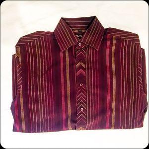 Ben Sherman Slim Fit Striped Dress Shirt S
